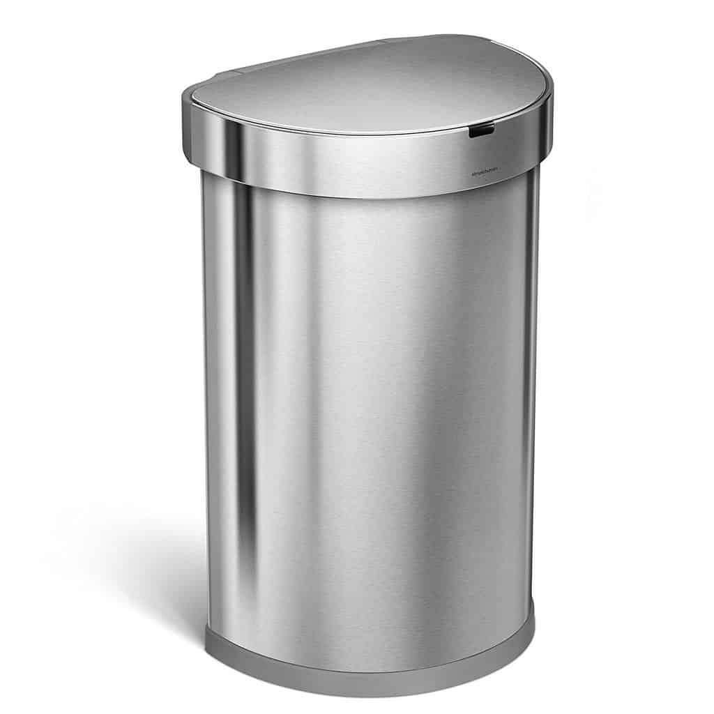 TOP 5: Best Simplehuman Semi Round Sensor Touchless Kitchen Trash Cans  Reviews